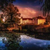 Sunset. Bad Essen. Castle Hunnefeld :: Yuriy Rogov
