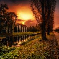 Sunset. Bad Essen :: Yuriy Rogov