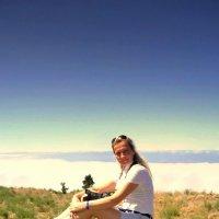 На Тенерифе. Я так высоко, что могу достать рукой облака! Фото с небес :: Svetlana Galvez