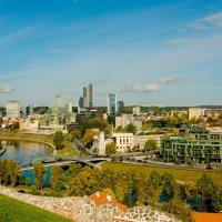 Вильнюс. Вид на современный город с Замковой горы. :: Инта