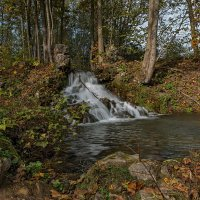 Водопад в лесу. :: Виктор Грузнов