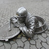 "Скульптура ""Сантехник Степаныч""(1998 г.) :: раиса Орловская"
