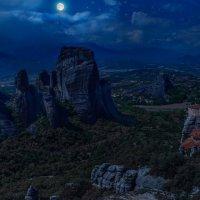 Греция Метеоры.Ночь :: юрий макаров