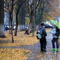 Двое и  осень... :: Валерия  Полещикова