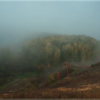 Туманное утро :: Андрей Грибов