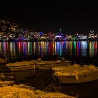 Цветная ночь  в Аланье :: Наталья Ерёменко