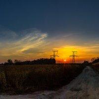 Закат солнца в дороге :: Сандродед
