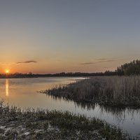 Закат на белом озере :: Юрий Клишин