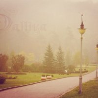 """Уходящая в туман..."". Краски осени. :: Dalliya Elle"