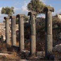 Раскопки древнего города. Колонны из базальта. :: Lmark