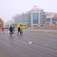 Первый снег в Иркутске :: Алексей Белик