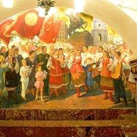 Фреска на станции метро Киевская :: Владимир Болдырев