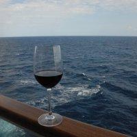 Корабль в Атлантике. В бокале вина - штиль... :: Владимир Смольников