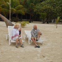 Берег Карибского моря. Пенсионеры отдыхают... :: Владимир Смольников