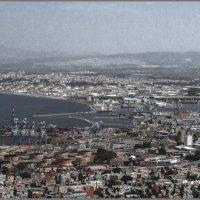 Хайфа-порт,сквозь голубой туман :: Shmual Hava Retro