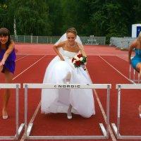 Невеста и подружки к барьеру :: Владимир Максимов
