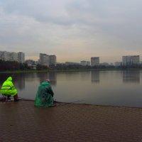 Дождь рыбаку - не помеха. И фотографу :: Андрей Лукьянов