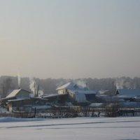 Сибирская деревня.Мороз :: Вера Андреева