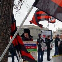 Пикет НОД против политики Центробанка РФ :: Сергей Яценко