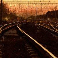 Железнодорожный пейзаж 2 :: Александр Хахалкин