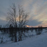 морозный закат :: Виталий Макаров