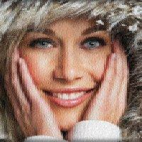 За окном падает снег :: Лидия (naum.lidiya)