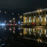 На Биржевой площади вечером :: Valeriy Piterskiy