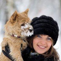 прогулка с любимой собакой :: Andrei Gazizov