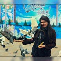 Голодные голуби автоматически становятся ручными))) :: Ирина Серова