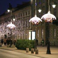 Улица Маршалковская перед новым годом :: Gennadiy Karasev