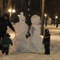 Семья снеговиков :: Наталья Тимошенко
