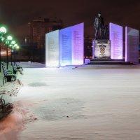Челябинск. Ночь. Памятник солдатам правопорядка :: Марк