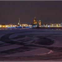 Рождественский вечер в городе на Неве :: Борис Борисенко