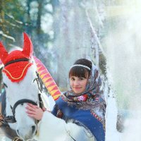 Снежок и солнце*** :: Елена Лобанова