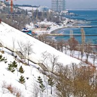зима на Большом Фонтане :: Александр Корчемный
