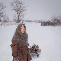 Зима в деревне :: оксана киселева