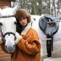 Катя с лошадью :: М. Дерксен Derksen