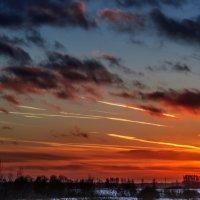 Закат в канун Старого Нового года. 03.    13.01.2015. :: Анатолий Клепешнёв