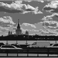 небо над Универом, стилизация :: Дмитрий Анцыферов