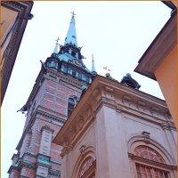 Вечер в Стокгольме. Немецкая церковь. :: Михаил Лесин