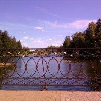 Мост на Захаровском пруду :: Владлен Смирягин