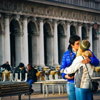 Венеция.  Поцелуй. :: Юлия