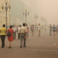Дымное лето 2010год......Старый Арбат :: PETR