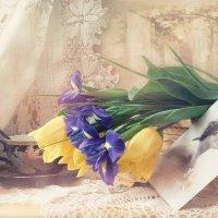 С ирисами и желтыми тюльпанами :: Мария Ярош