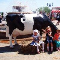 Если хочешь быть здоровым, кушай, что дает корова. :: Елена Круглова