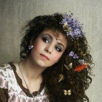 Девушка с бабочками :: Маргарита Нижарадзе