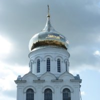 Золотые купола  отражают  облака..... :: Galina Leskova