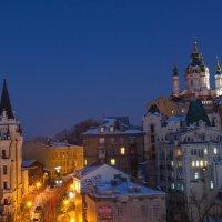 Вечерний вид на Андреевский спуск :: Андрей Нибылица