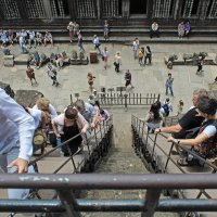 Камбоджа. Ангкор-Ват. Лестница на третий ярус храма :: Владимир Шибинский