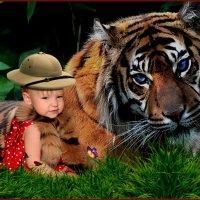 Смотрите дяденька Тигр как она прекрасна. :: Анатолий Ливцов
